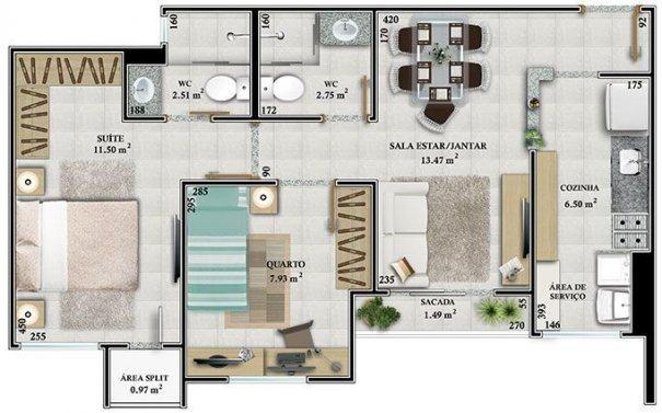 Apartamento - Green Park Residencie - 2 quartos sendo 1 suíte - Foto 12