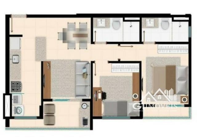 Apartamento Residencial no Parque Amazônia com 2 quartos sendo 1 suíte! - Foto 7