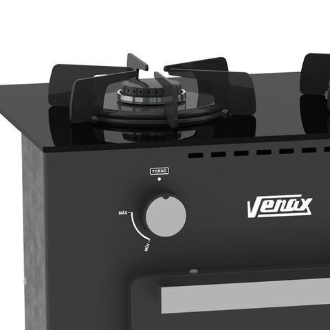 Fogão A Gás Portátil Mini Cook 2 bocas Com Forno Venax - Foto 4
