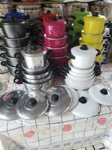 Jogo de panelas várias cores alumínio reforçado - Foto 3