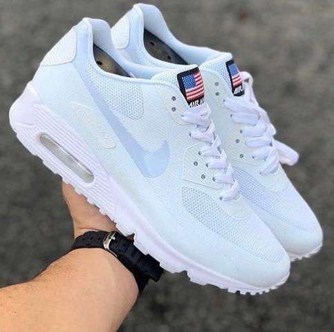 buy popular 1385d da8e1 Tênis nike Air max 90 independence day hyperfuse Branco