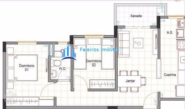 Aparatmento 2 dormitórios com sacada e lazer completo - Apartamento a Venda no b... - Foto 8