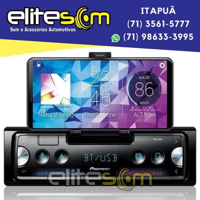 Aparelho Pioneer Sph-c10bt Smartphone Bluetooth Smart Sync instalado na Elite Som - Foto 3