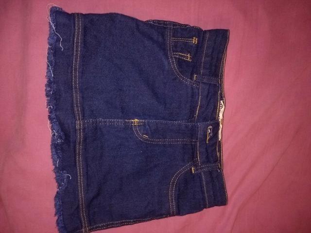 Saia jeans para criança!