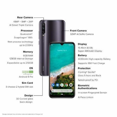 Smartphone Xiaomi Mi A3 64gb 48mp(10xS/Juros)Garantia 1 Ano -Somos Loja Fisica - Foto 3