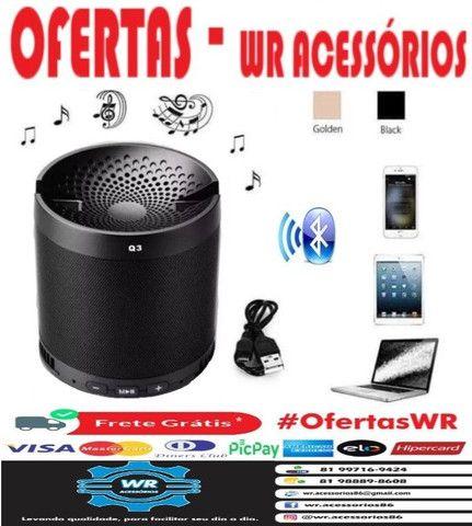 Caixa De Som Bluetooth Q3 + Brinde e Entrega Grátis - Foto 2