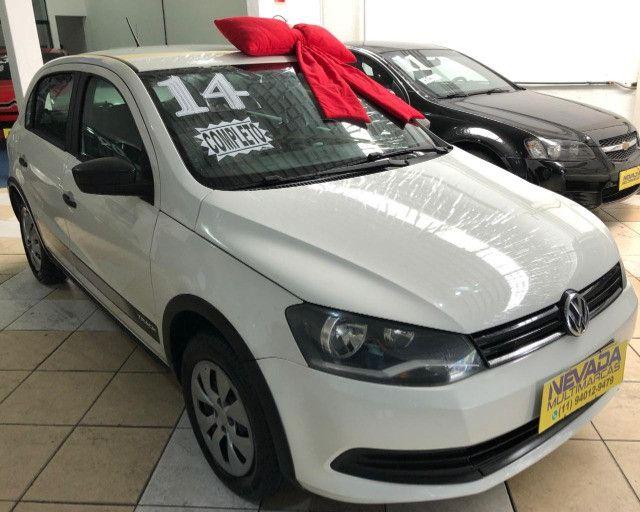 Volkswagen Novo Gol 2014 1.0 Flex Track Completo Branco (Estudo Troca e Financio)
