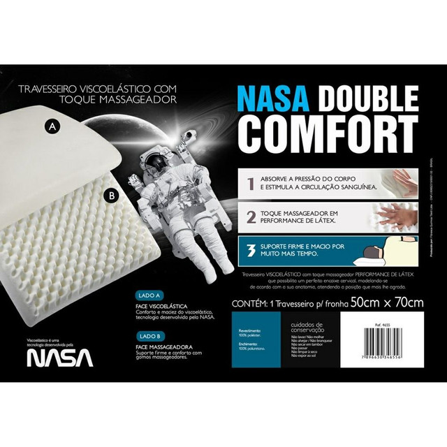 Travesseiro Nasa Double Comfort - Foto 4