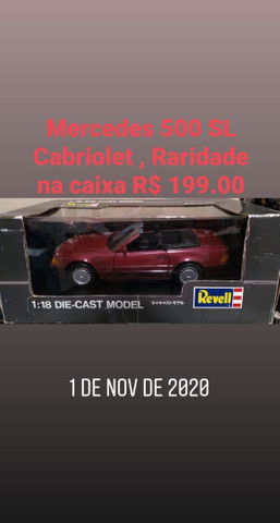 Mercedes 500SL 1/18 Cabriolet , Raridade !!