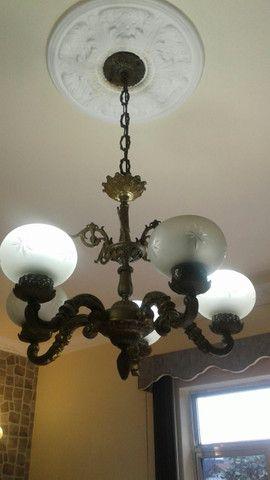 Lustre e luminárias de bronze - Foto 3