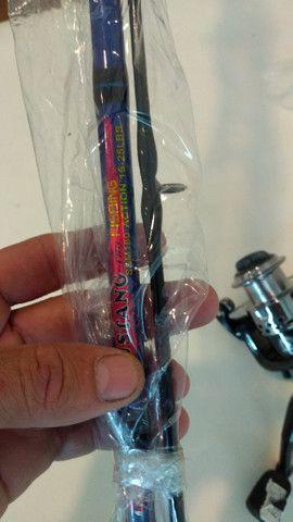 Vende-se vara de pescar completa nunca usada !! R$ 120,00 - Foto 2
