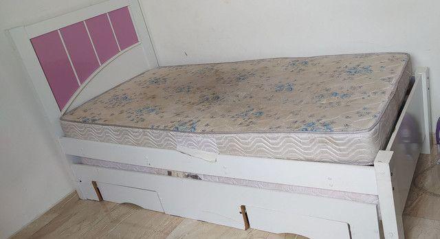 Cama Box solteiro com colchão