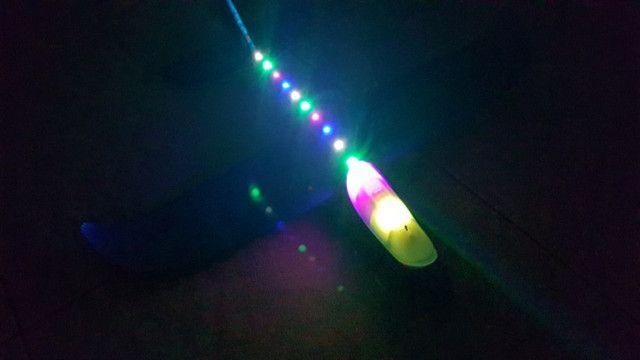 Avião De Brinquedo Planador Isopor Flexível Com Luz Leds - Foto 2