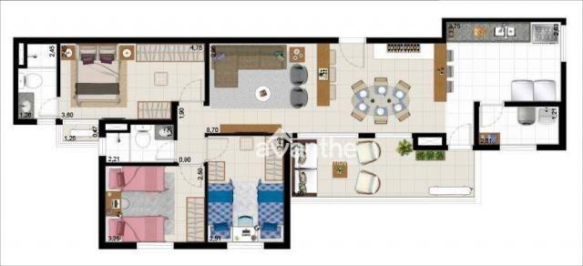 Apartamento com 3 dormitórios à venda, 74 m² por R$ 317.000 - Santa Isabel Zona Leste - Te - Foto 14
