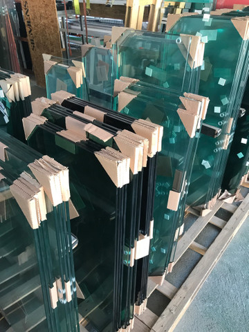 Material completo de janela em vidro temperado