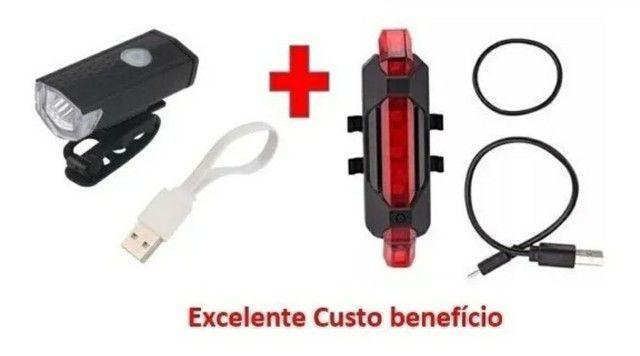 Kit Lanterna Dianteira e Traseira Led Bicicleta - Promoção
