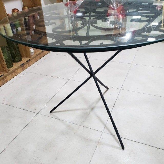 Linda mesa de vidro trabalhada !!! - Foto 3