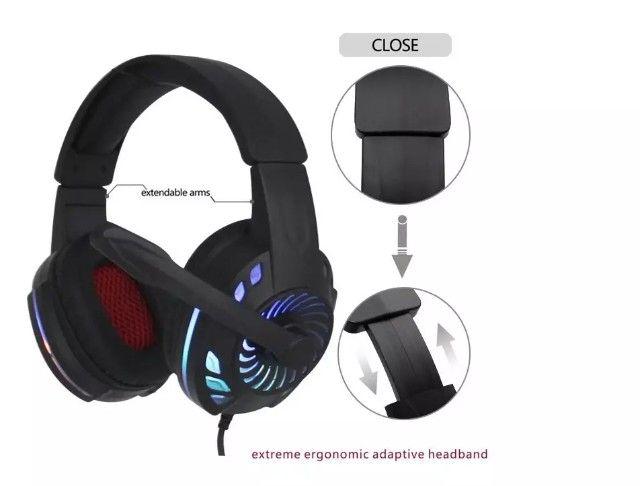 Entrega grátis - Fone de Ouvido Headset Gamer KM 666 - Foto 3