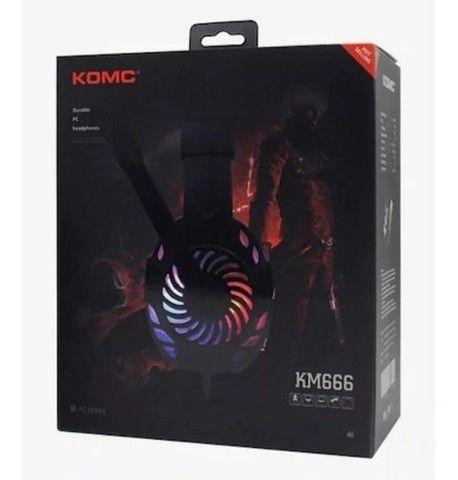 Entrega grátis - Fone de Ouvido Headset Gamer KM 666 - Foto 2