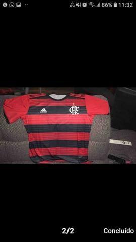 1a63bf7710 Camisa Flamengo I 2018/2019 s/n° Torcedor Adidas Masculina - Vermelho e