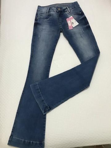 Calça jeans flaire menina Tam 14