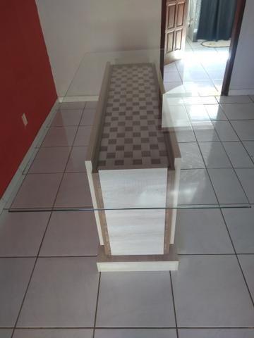 Mesa com tampo em vidro - Foto 3