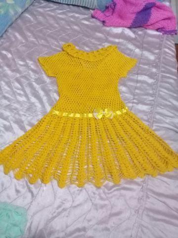 48f177018308 Vestido de Crochê infantil veste de 3 até 4 anos - Artigos infantis ...