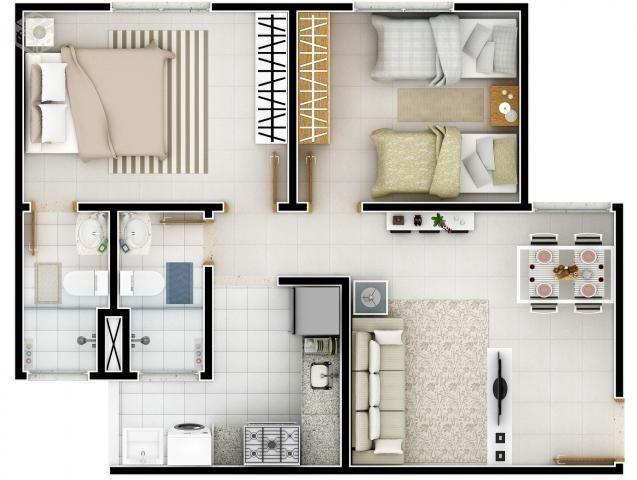 Apartamento Pronto no Planalto 2/4 Suíte - 55m² - Corina Lúcia - Foto 8