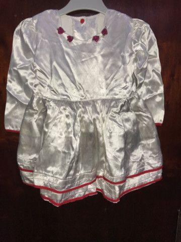 Vestido Infantil Cetim - TAM 2 anos