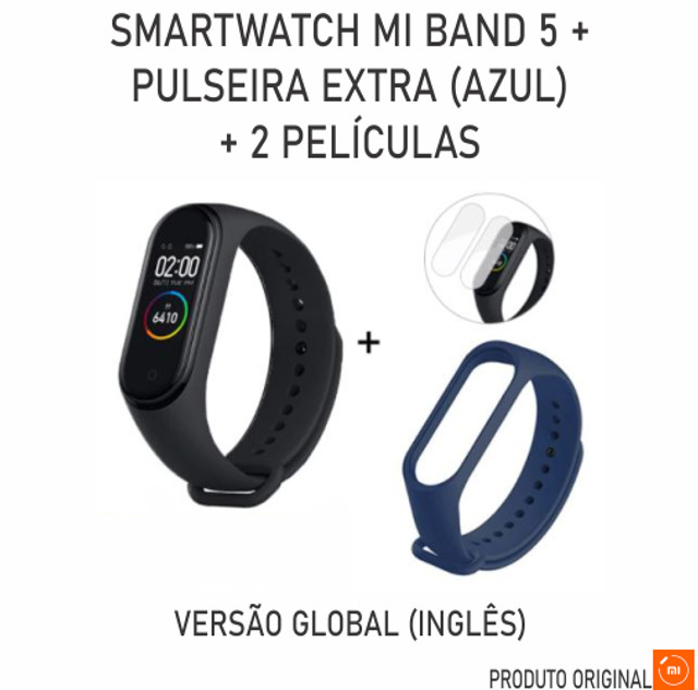 Relogio Smartwatch Xiaomi Mi Band 5 + Pulseira + 2 Peliculas - Foto 3