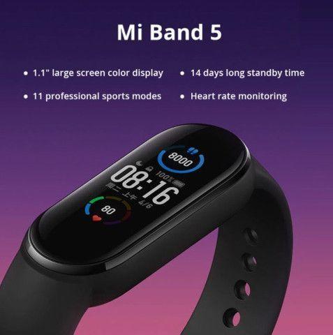 Relógio Smartwatch Pulseira Xiaomi Mi Band 5 - Original a pronta entrega - Foto 5