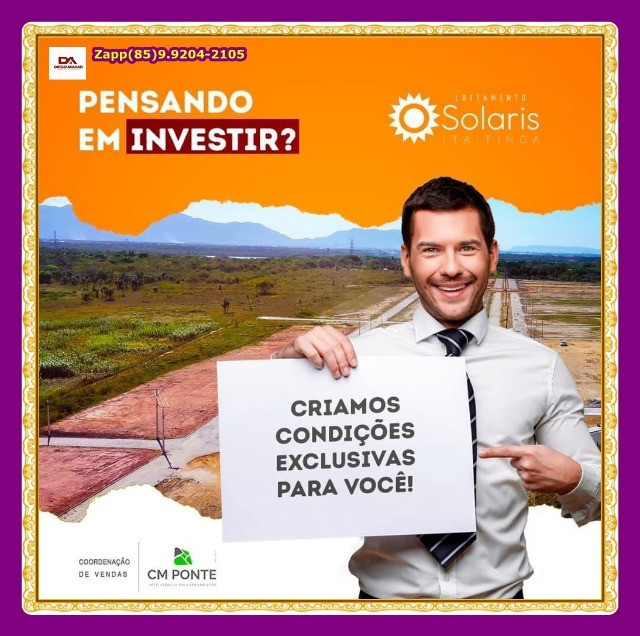 Lotes Solaris em Itaitinga { Pronto para construir} - Foto 7