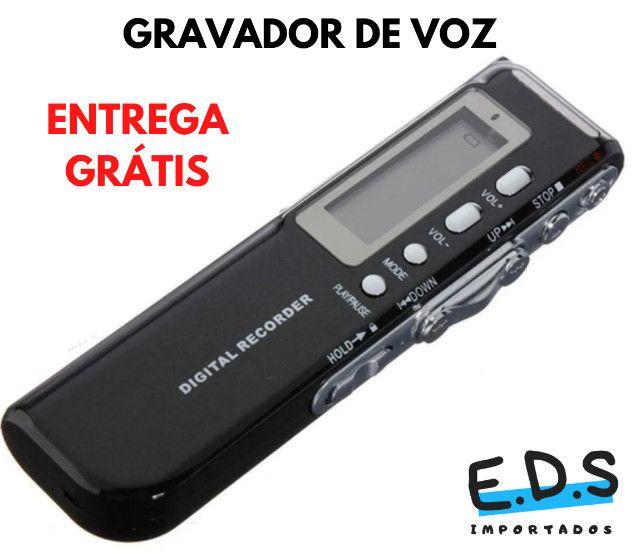 Gravador de Voz Espião e Digital Com Fone de Ouvido e 8Gb de Memória - Foto 3