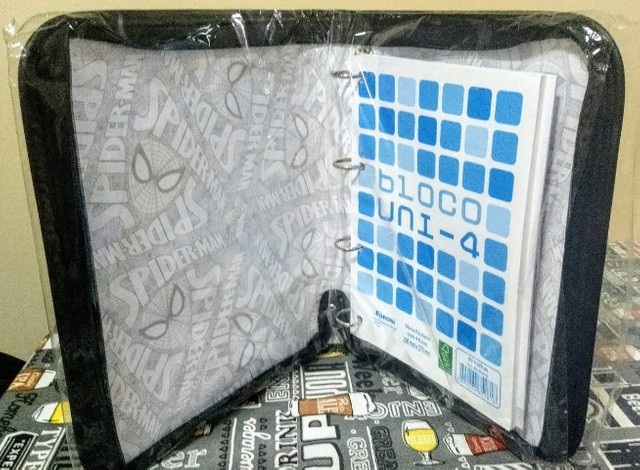 Fichário Universitário Spider-Man Grande com Ziper (Marvel) / Por R$ 97,00 - Foto 5