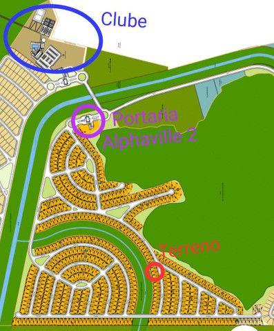 Terreno plano no Alphaville 2 com fundo para mata de preservação de 455m² - Foto 4