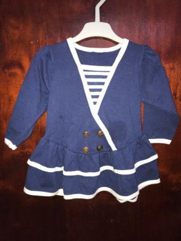 Vestido Infantil Marinheira - TAM 1 ano