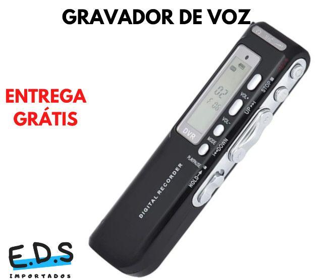 Gravador de Voz Espião e Digital Com Fone de Ouvido e 8Gb de Memória - Foto 4