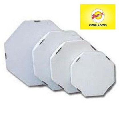 50 Caixas Embalagem Pizza 35cm Oitavada Branca Tbm personalizamos, temos todos os tamanhos - Foto 6