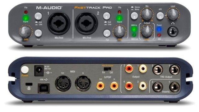 M-audio Fast Track Pro (com Caixa Original E Protools)