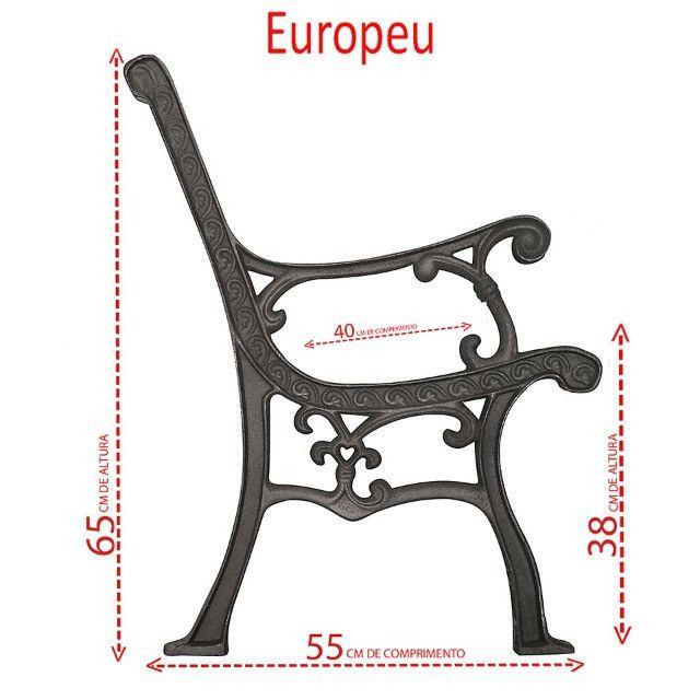 Pés de banco ferro fundido modelo Europeu