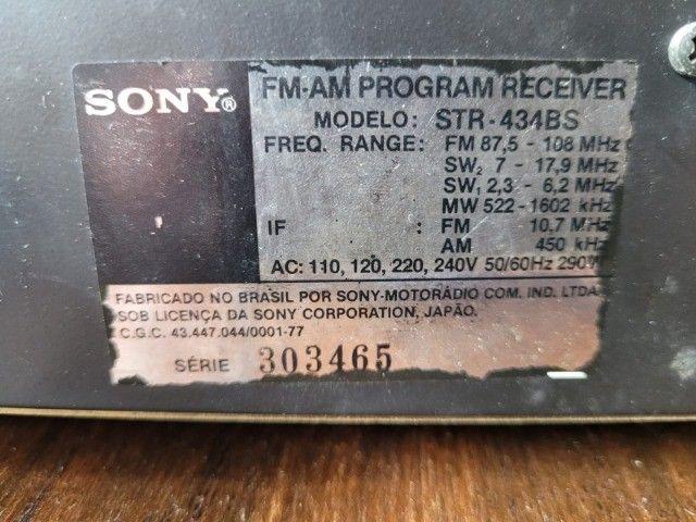 Som Receiver Sony Str-434bs raro - Foto 4