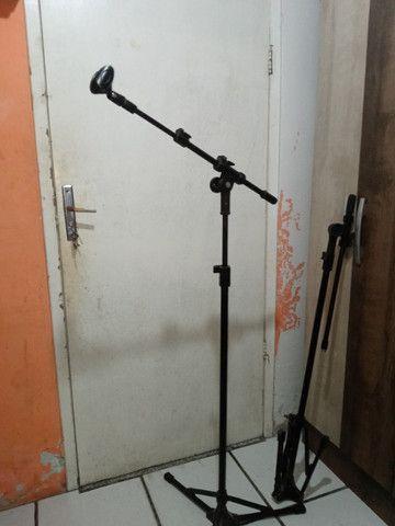 2 pedestais para microfone, tripé para microfone - Foto 5