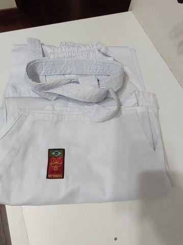 Kimono Dobô Taekwndoo  Olímpico Oficial Tamanho A4 com faixa  - Foto 2