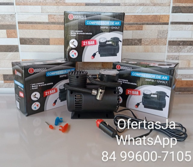 Mini Compressor de Ar Automotivo Multiuso 12v 300psi - Segma - Foto 2