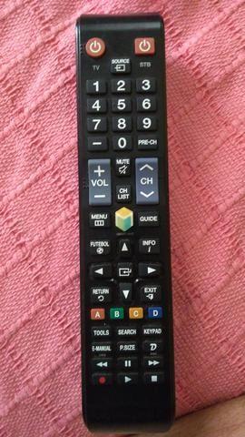 Controle Remoto Tv Samsung Smart Hub Futebol Original áudio Tv