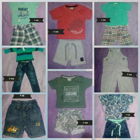 Lote de roupas de menino 0 à 1 ano