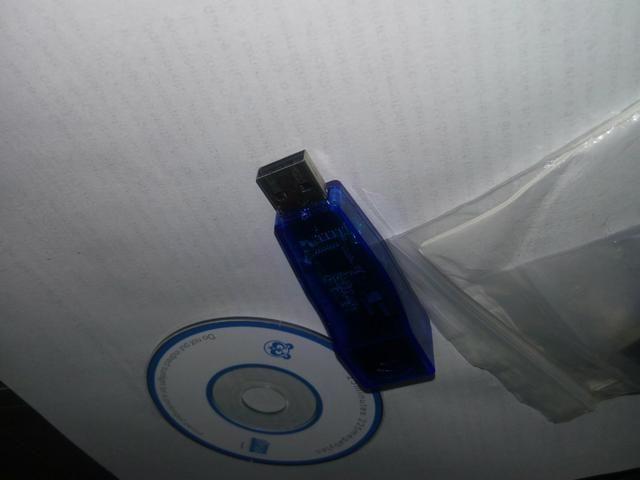 Adaptador de rede enthanet, entrada USB, saída Rj45
