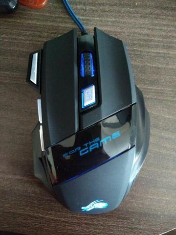 Mouse Gamer USB 5500DPI com LED