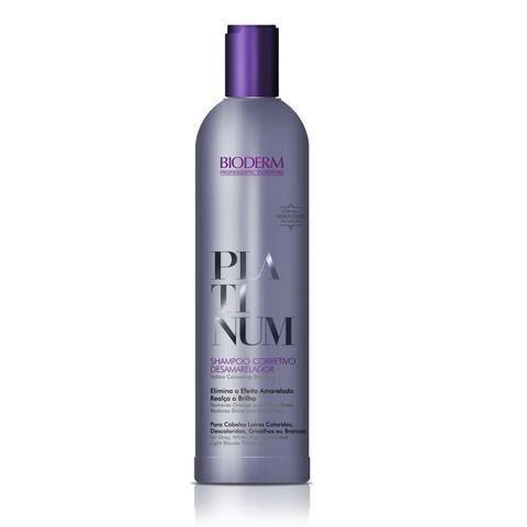 Bioderm Platinum Shampoo Corretivo Desamarelador 200 ml