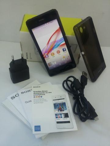 Smartphone Sony D2212 E3 Dual Chip Preto Semi Novo Completo
